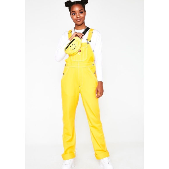 Dickies Pants - Dickies Girl Canary Relaxed Twill Overalls